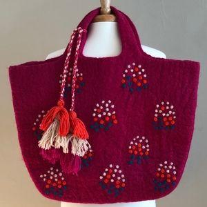 Anthropologie, Felted Wool Shoulder Tote/Bag